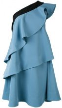 Miahatami - one shoulder ruffle dress - women - Polyester/Spandex/Elastane - 42 - BLUE