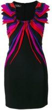 Capucci - Tubino con ruches piatte - women - Silk/Polyester/Spandex/Elastane/Viscose - 40 - BLACK