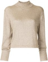 H Beauty&Youth - glitter knitted jumper - women - Rayon/Polyester - OS - METALLIC