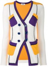 Moschino Vintage - double breasted cardigan - women - Cotton - 42 - WHITE