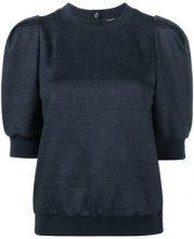 Adam Lippes - Maglia con maniche a palloncino - women - Cotton/Linen/Flax/Nylon/Wool - XS - BLUE