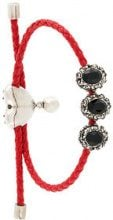 Alexander McQueen - embellished braid bracelet - women - Leather/metal - One Size - RED