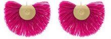 - Katerina Makriyianni - Orecchini 'Fringed Fan' - women - lana/argento sterling - Taglia Unica - di colore rosa