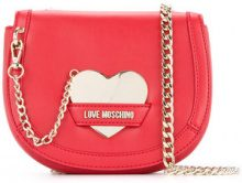 Love Moschino - chain-detail crossbody bag - women - Polyurethane - One Size - RED