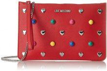 Love Moschino Borsa Pu Rosso - Borse a spalla Donna, (Red), 1x17x21 cm (B x H T)