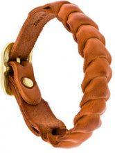 Il Bisonte - Bracciale intrecciato - women - Leather - OS - YELLOW & ORANGE