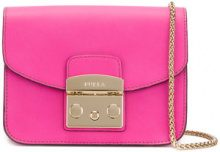Furla - mini Metropolis crossbody bag - women - Leather - One Size - PINK & PURPLE
