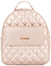 Love Moschino - small quilted backpack - women - Polyurethane - One Size - PINK & PURPLE