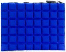 No Ka' Oi - medium grid textured pouch - women - Polyamide/Polyurethane/Spandex/Elastane - OS - BLUE