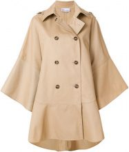 Red Valentino - wide sleeve double breasted coat - women - Cotton/Polyamide/Polyester/Acetate - 40 - NUDE & NEUTRALS