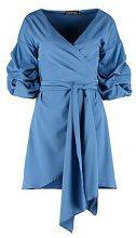 Emily Volumised Ruched Wrap Shirt Dress