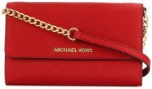 Michael Michael Kors - Borsa a tracolla con placca del logo - women - Leather - One Size - RED
