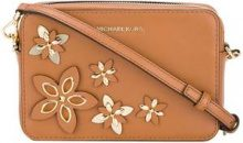 Michael Michael Kors - floral applique shoulder bag - women - Leather - OS - BROWN