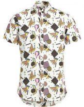 PRODUKT Casual Short Sleeved Shirt Men Pink