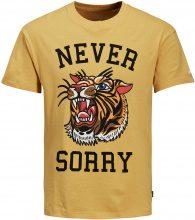 JACK & JONES Print T-shirt Men Yellow