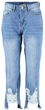 Hailey Cropped Distressed Straight Leg Jeans