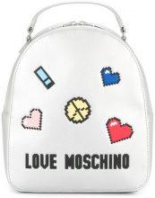 Love Moschino - Zaino con applicazioni - women - Polyurethane - One Size - METALLIC