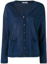 P.A.R.O.S.H. - knitted cardigan - women - Cotton/Viscose - S - BLUE