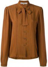 Jean Louis Scherrer Vintage - Camicia con fiocco - women - Silk/Acetate - 42 - BROWN