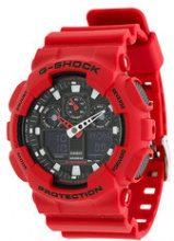- G - Shock - GA - 100B - 4AER watch - men - Rubber/stainless steel - Taglia Unica - Rosso
