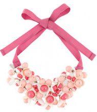 P.A.R.O.S.H. - Collana a fiori - women - Cotton/Acrylic - OS - PINK & PURPLE