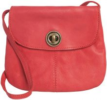 PIECES Leather Crossbody Bag Women Red