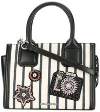 Karl Lagerfeld - Klassik Sparkle mini tote - women - Leather/Canvas - One Size - BLACK