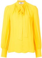 MSGM - Blusa con fiocco - women - Viscose - 42 - YELLOW & ORANGE
