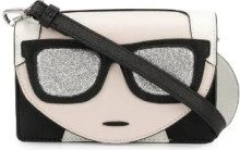 Karl Lagerfeld - Ikonik mini crossbody bag - women - Polyurethane/Calf Leather - One Size - BLACK