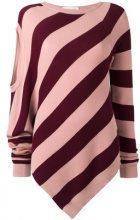 A.F.Vandevorst - 'Twist' jumper - women - Cotton - 38 - PINK & PURPLE