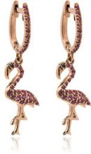 Ileana Makri - Cerchi 'Flamingo' - women - Diamond/Sapphire/18kt Rose Gold - OS - PINK & PURPLE