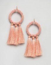 ASOS - Vistosi orecchini con nappe e cerchi con perline - Rosa