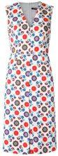 Reinaldo Lourenço - floral print dress - women - Cotton - 40 - WHITE