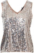 VERO MODA Sequined Sleeveless Top Women Brown