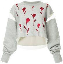 Maison Mihara Yasuhiro - Maglione con rivestimento trasparente - women - Cotton - OS - GREY