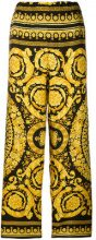 Versace - Pantaloni crop - women - Silk - 36 - YELLOW & ORANGE
