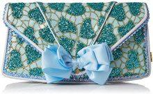 Irregular Choice Pastel Pride Clutch - Pochette da giorno Donna, Blu (Blue), 10x16x30 cm (W x H L)