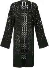 Versace Collection - pointelle-knit cardigan - women - Polyamide/Polyester/Viscose - 42 - BLACK