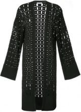 Versace Collection - pointelle-knit cardigan - women - Viscose/Polyester/Polyamide - 42 - BLACK