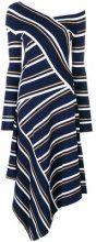 Cédric Charlier - Vestito asimmetrico - women - Viscose/Polyester - 42 - BLUE
