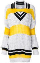 Maison Margiela - Maglione con scollo a V - women - Cotton/Polyamide/Wool - 42 - GREY