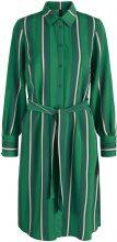 Y.A.S Striped Shirt Dress Women Green
