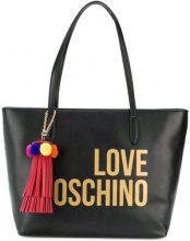 Love Moschino - Borsa tote con logo - women - Polyurethane - OS - BLACK