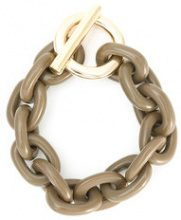 Osklen - chain links bracelet - women - Acrylic - OS - NUDE & NEUTRALS