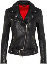 J.LINDEBERG Colton Patched Leather Jacket Women Black