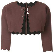 Comme Des Garçons Vintage - Bolero a scialle - women - Polyester - S - BROWN