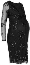 Maternity Stacey Sequin Mesh Bodycon Dress