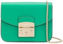 Furla - casual design mini bag - women - Leather/Nylon/Viscose - OS - GREEN