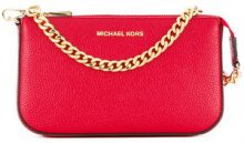 Michael Michael Kors - chain detail clutch - women - Leather - OS - RED