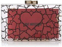 Love Moschino Borsa Acrylic Trasparente - Pochette da giorno Donna, (Transparent Acrylic), 4x10x17 cm (B x H T)